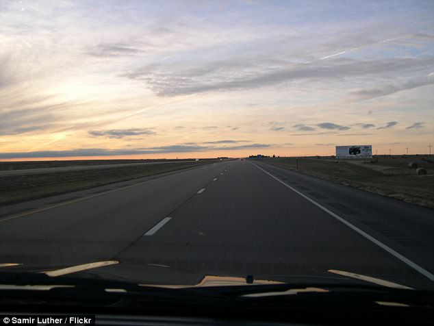 He added that he wasn't trying to advocate speeding, but urged drivers to at least be doing the speed limit when merging onto interstate highways. The I70 in Kansas is pictured above
