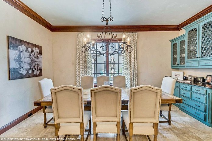 Fine dining: Adding again to the aspect of entertaining, a large formal dining room is also included among the home's features