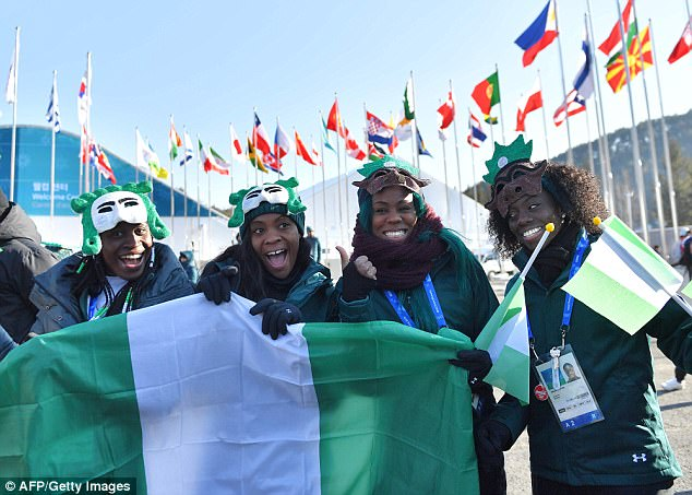 Representing: Bobsleigh team Seun Adigun, Ngozi Onwumere, Akuoma Omeoga and skeleton athlete Simidele Adeagbo, are Nigeria's first ever Winter Olympic competitors