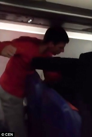 After insulting a fellow passenger the man got punched in the face