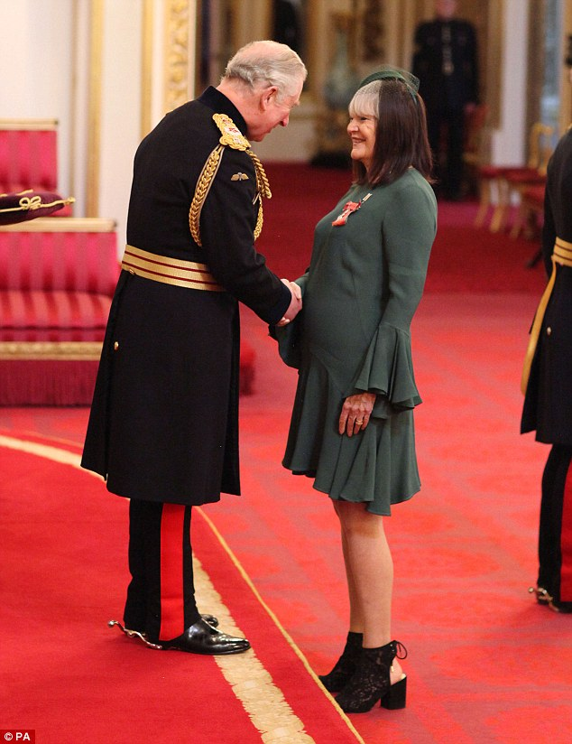 Celebrated:Emeli wasn't the only musician to receive an MBE on Thursday, with Sandie Shaw also mentioned in the Queen's Birthday Honours, in recognition of her services to music
