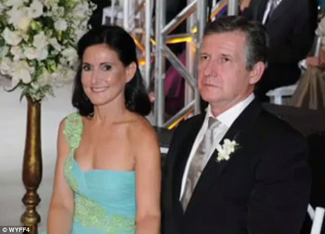 Nico's grandparents Carlos and Jemima Guimaraes (shown) are accused of assisting Marcelle in moving the child to their native country of Brazil