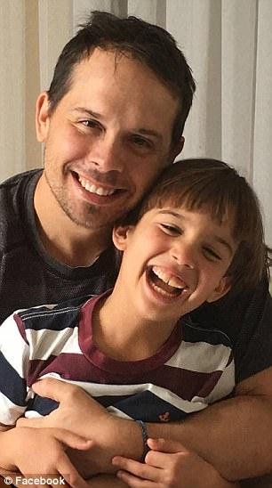 Nico with his father Chris Brann