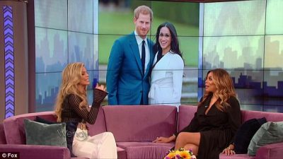 Tell all: Meghan came up in conversation on Wednesday as Wendy was speaking to her guest, the former 90210 star AnnaLynne McCord