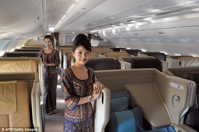 Singapore Airlines cabin crew have been warned they must not gain weight, file photo