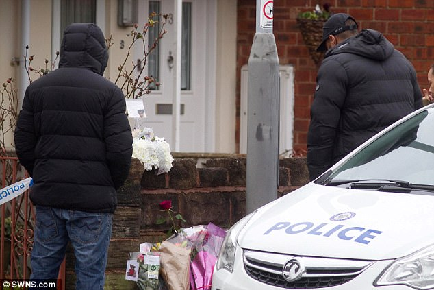 Jasmine's father Simeon Forrester (pictured right) was seen at the scene of his daughter's murder where he left a floral tribute to her
