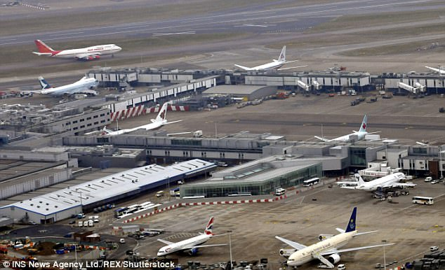 Mohamed Abdullahi Mohamud, a terror suspect and sex offender with 17 aliases, has reportedly been working at Britain's busiest airport in an alarming security breach (file photo)