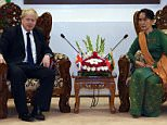 Foreign Secretary Boris Johnson raised the persecution of the minority as he met Burma's de facto leader Aung San Suu Kyi in Naypyidaw today