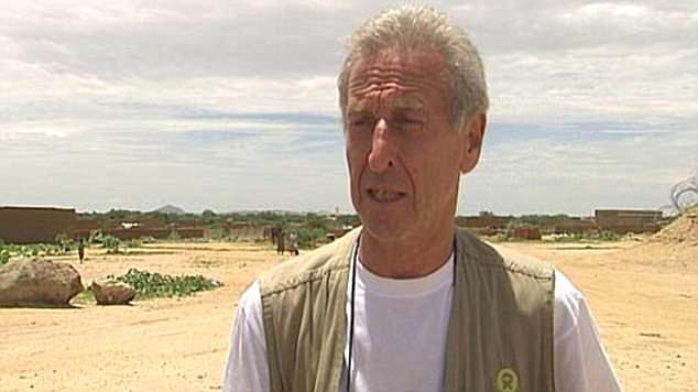 Former Oxfam employees  in Chad claimed  staff held sex parties with prostitutes. Pictured: Roland van Hauwermeiren, 68, who admitted to having sex with vulnerable prostitutes at his Oxfam villa