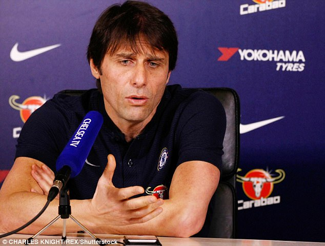 Conte said: 'Maybe he needs one day, one month, or is out for the season, I don't know'