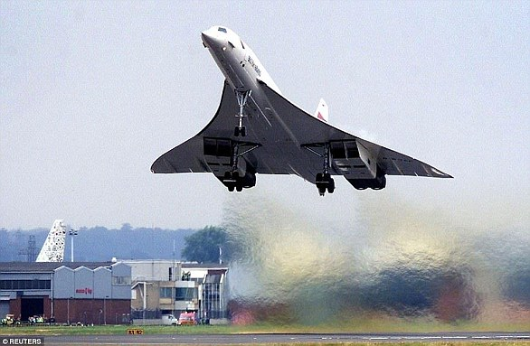 Concorde was a turbojet-powered supersonic passenger jet that was operated until 2003. It had a maximum speed over twice the speed of sound at Mach 2.04 and could seat 92 to 128 passengers