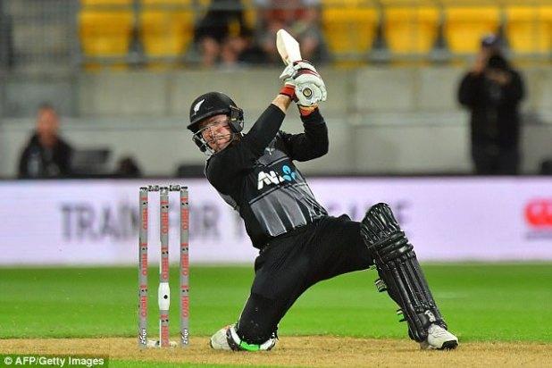 Tim Seifert added some quick runs for New Zealand, hitting14 off only six balls