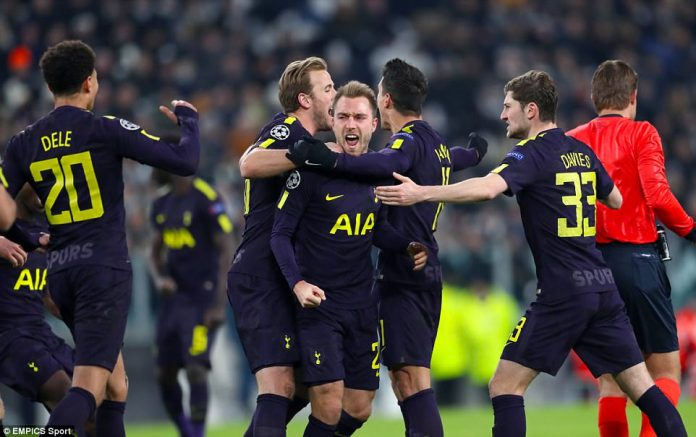 Christian Eriksen scored Tottenham's second goal with an expertly-taken free-kick from 20-yards out in the second half