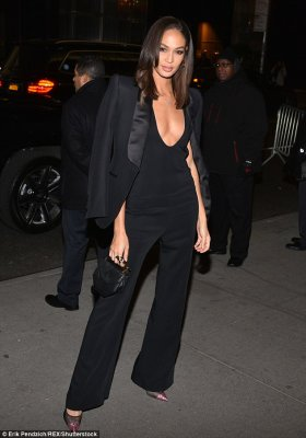 Joan Smalls Sizzle in Black at the Black Panther premiere in New York
