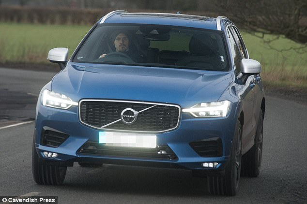 Ibrahimovic was staying true to his roots by driving a blue Volvo on Wednesday morning