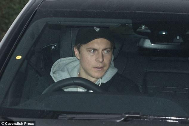 United's Swedish defender Victor Lindelof makes his way into training on Wednesday