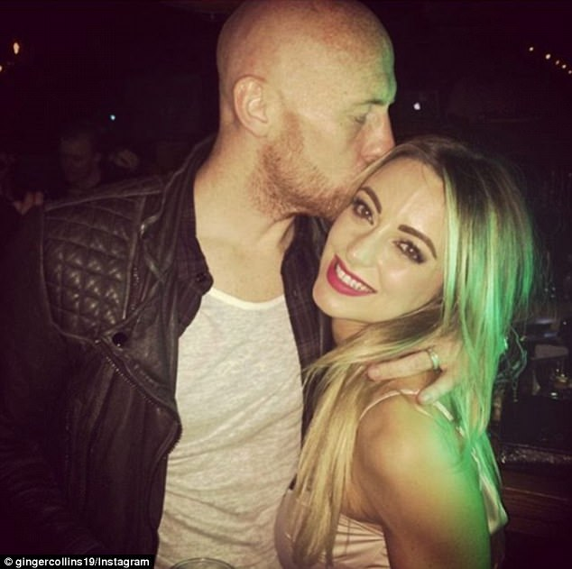 West Ham defender James Collins posted this loving picture of himself and wife Samantha