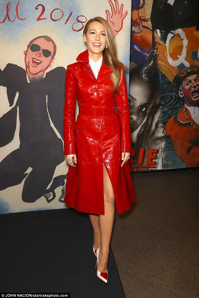 NYFW Blake Lively Shows Weight Loss In Red Leather Coat