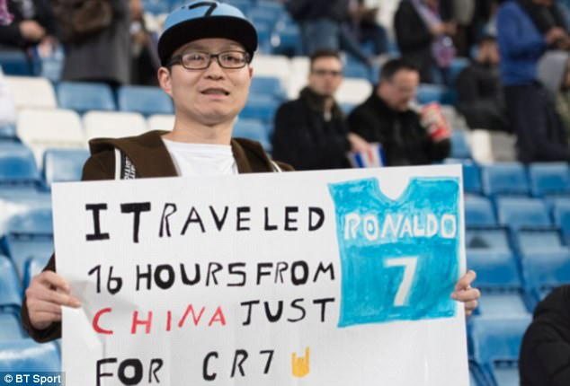 One huge Cristiano Ronaldo supporter endured a 16-hour journey from China for the game