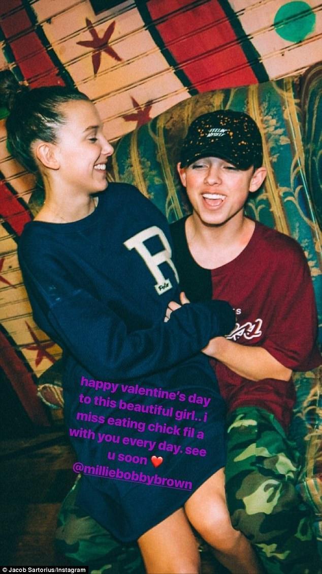 Millie Bobby Browns Valentines Note To Jacob Sartorius