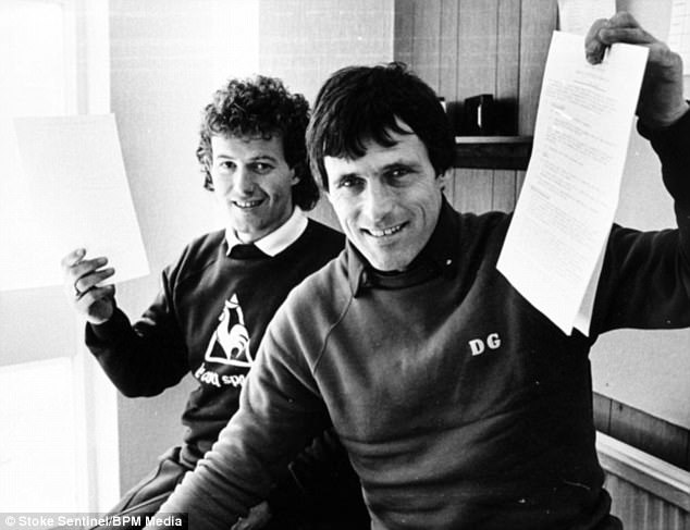 Crewe Alexandra director of football Dario Gradi (right) faces questions about why he provided a character reference for serial paedophile Barry Bennell (left)