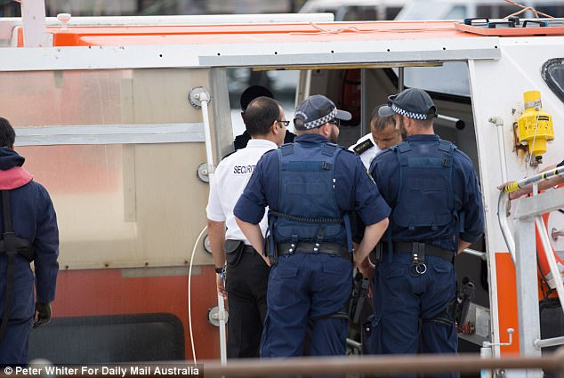 Passengers - all from the same group - were removed from the vessel and were driven to Canberra Airport to fly home to Melbourne