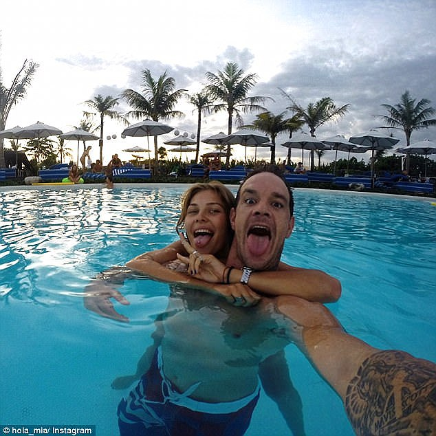 Koby Abberton met his wife Olya Nechiporenko in Bali, where they now live (both pictured)