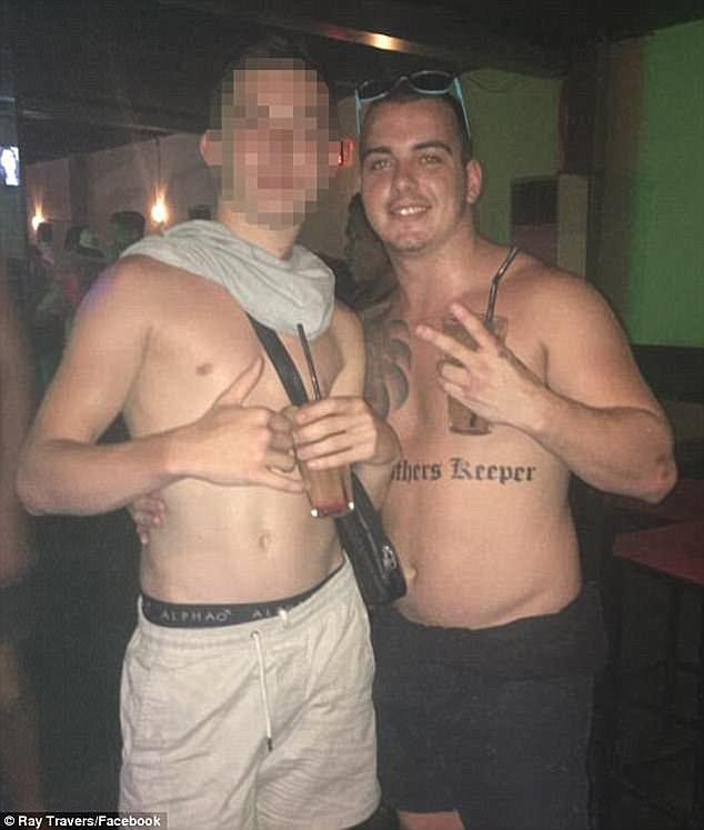Ray Travers (right) with his My Brother's Keeper Bra Boys tattoo has been charged with murder