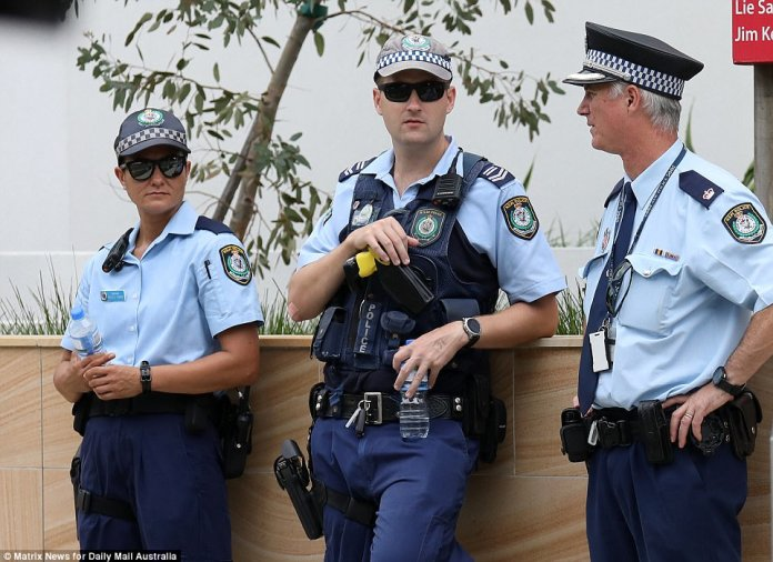Police were seen on every corner of the block surrounding the Arncliffe mosque