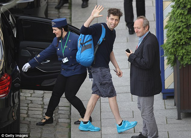 Altman, the President of Y Combinator, has signed up to have his brain embalmed so it can be put into a computer simulator. He is seen arriving at a hotel in Dresden, Germany in 2016