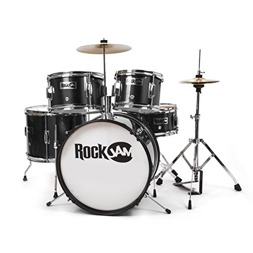 RockJam Complete 5 Piece Junior Drum Set With Cymbals  Adjustable     RockJam Complete 5 Piece Junior Drum Set With Cymbals  Adjustable Throne    Accessories For  47 75 Shipped From Amazon After  100 Price Drop
