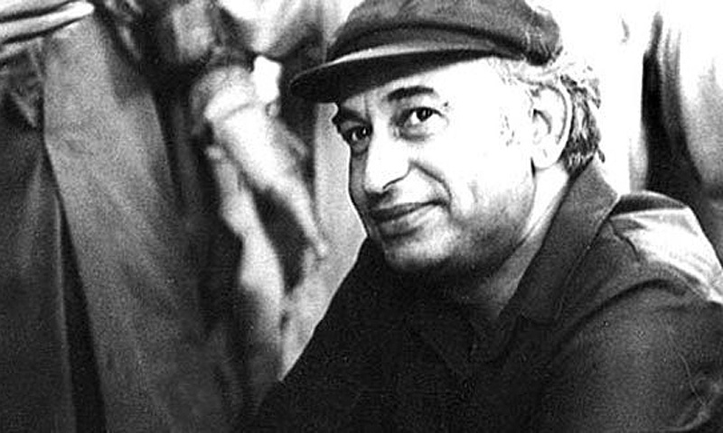 Z.A. Bhutto with his trademark 'Mao cap.'