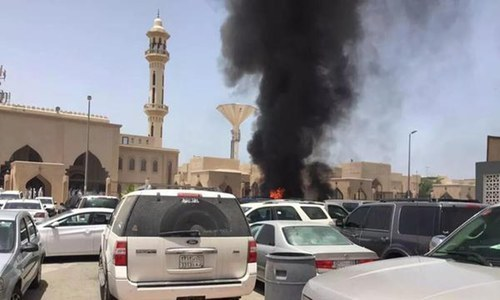 Image result for explosion in saudi arabia kills two