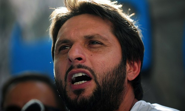 """""""I think I am fit for the game,"""" says Afridi. — AP/File"""
