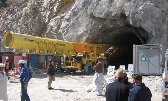 Work on Lowari tunnel is likely to be completed in June next year. —Dawn