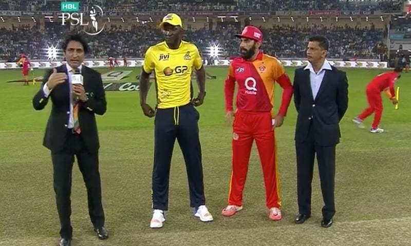 The captains at toss. -DawnNews
