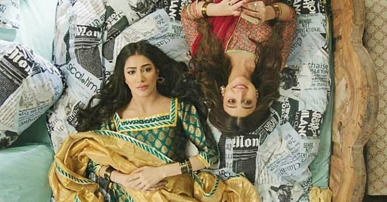 Image result for wajahat rauf's signed mehwish hayat and zara noor abbas for next film