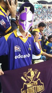 A young Quetta Gladiators fan.
