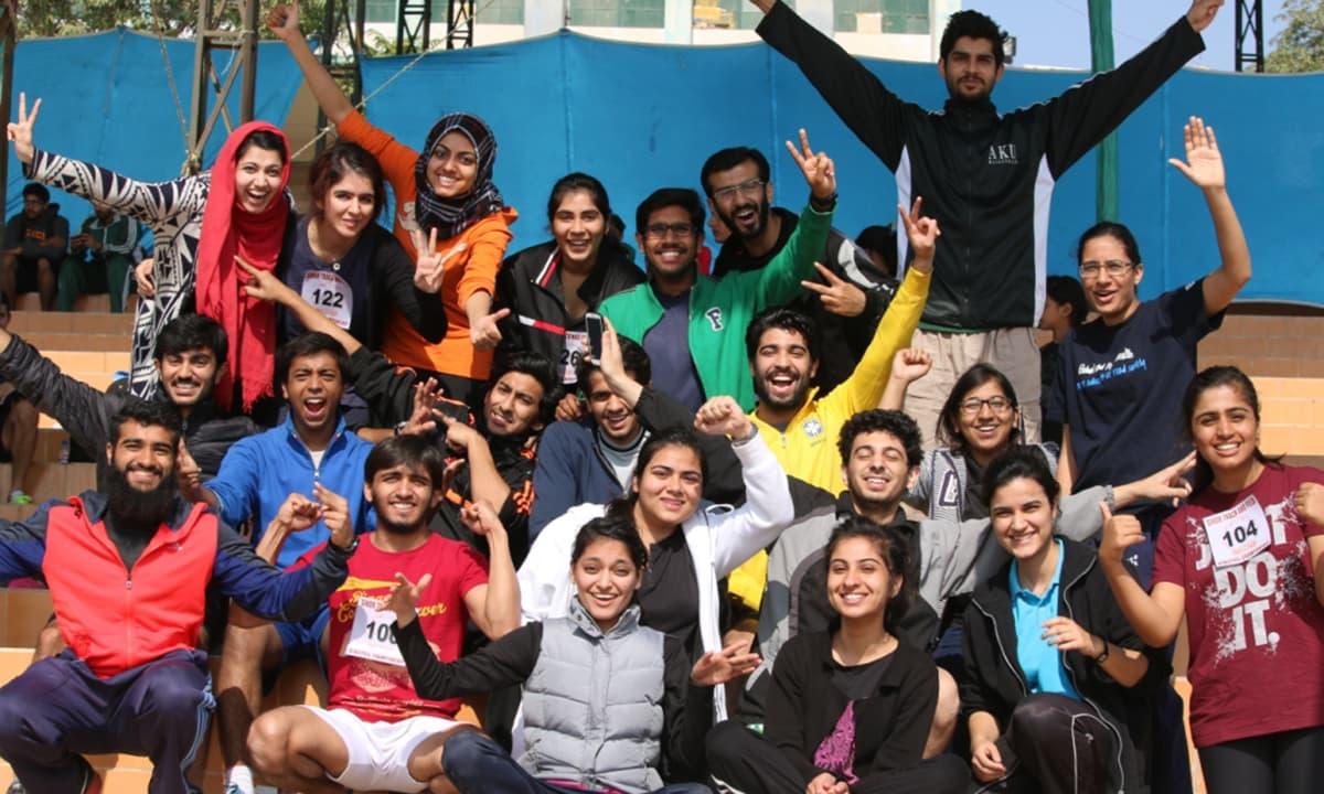 Aga Khan University's winning team.— Courtesy Photo