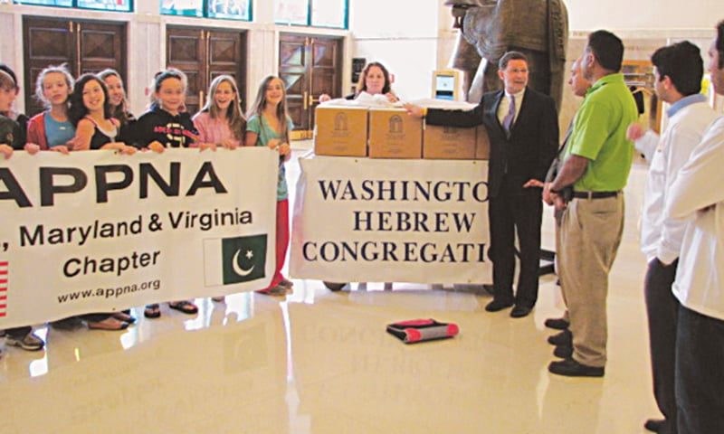 In 2010, as Pakistan reeled from the effects of the worst-ever floods in its history, the American Jewish Committee teamed up with the Association of Physicians of Pakistani Descent of North America DC Chapter (APPNA), the Maryland Muslim Council, and the Washington Hebrew Congregation to donate 13,340 meals to flood victims.