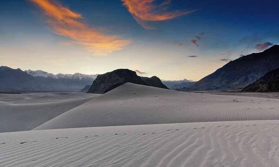 Cold desert at dusk.— S.M.Bukhari