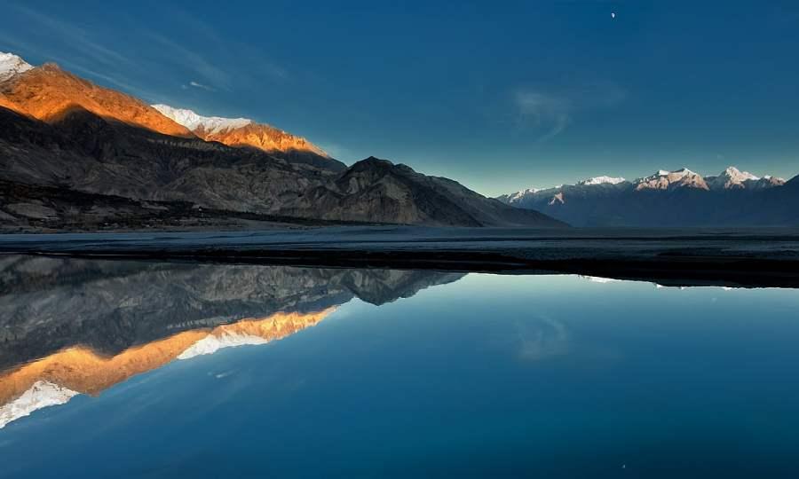 Dusk at Indus river. — S.M.Bukhari