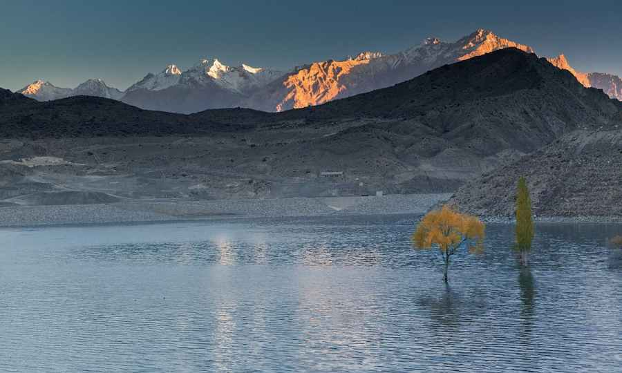 Sadpara lake at dawn. — S.M.Bukhari