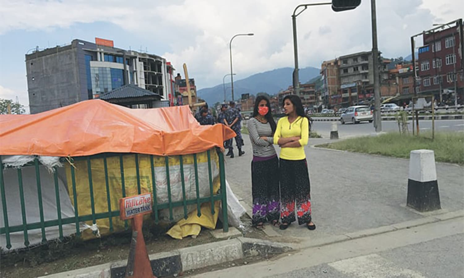 As rescue camps started taking over the urban landscape, even roundabouts, of Bakhtapur, everyday life for others continued side by side, but with some precautions