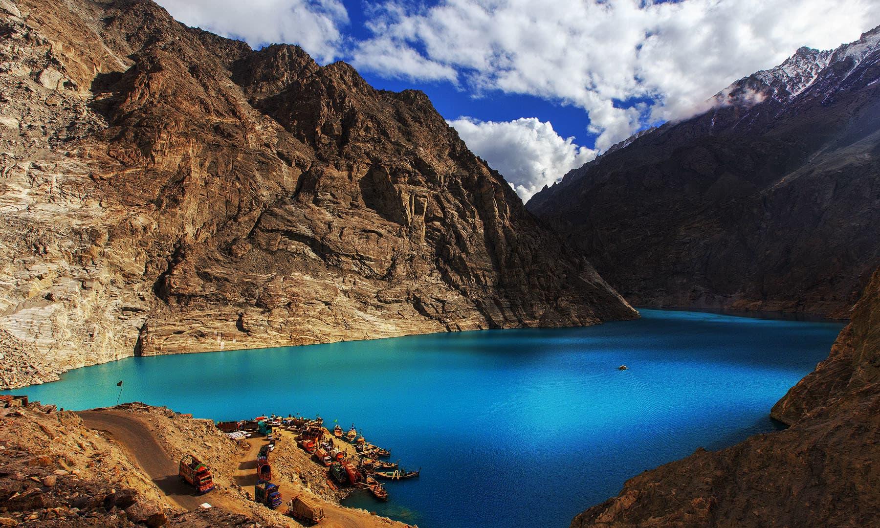 Attabad lake.