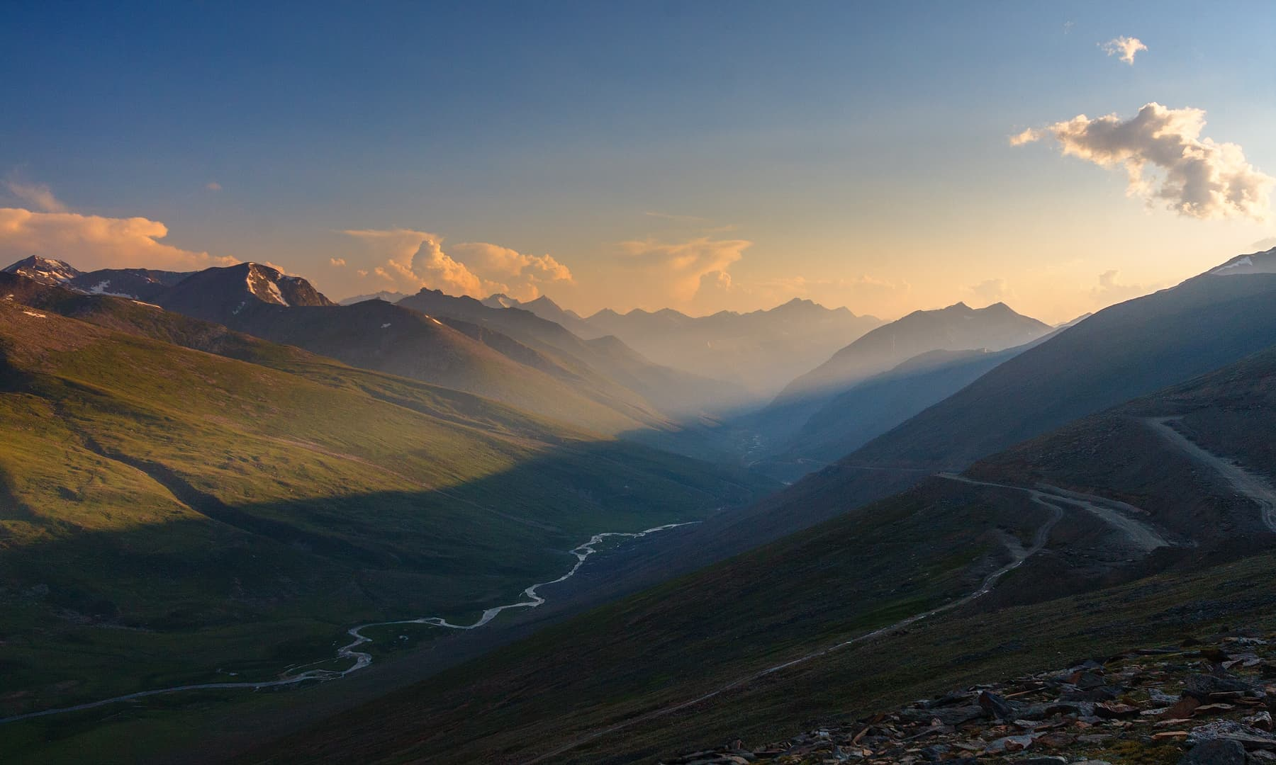 An evening in Babusar.
