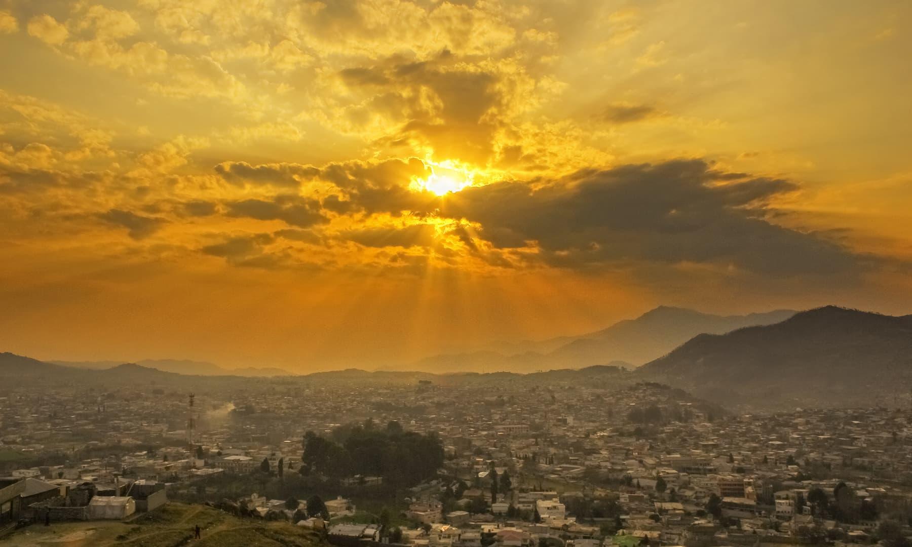 Sunrise at Abbottabad.