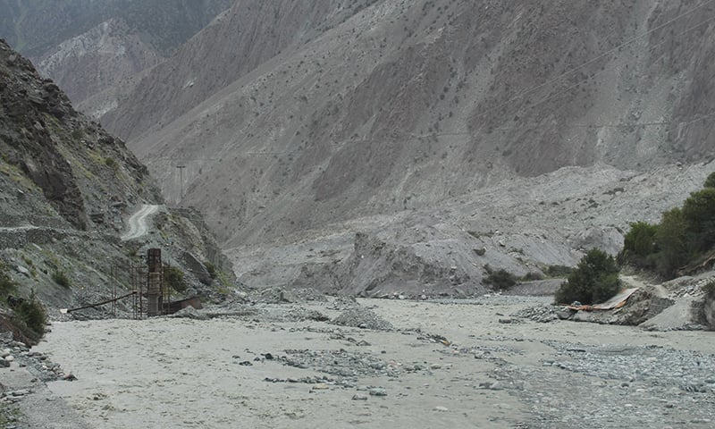 Raging flood in a river of Chitral Valley. - Photo courtesy: Syed Zahid Hussain