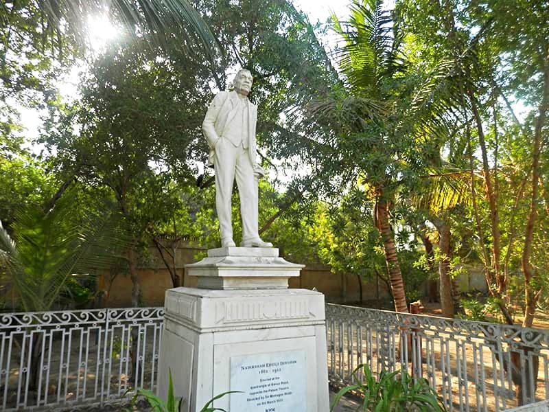 Statue of Nadirshaw Dinshaw.