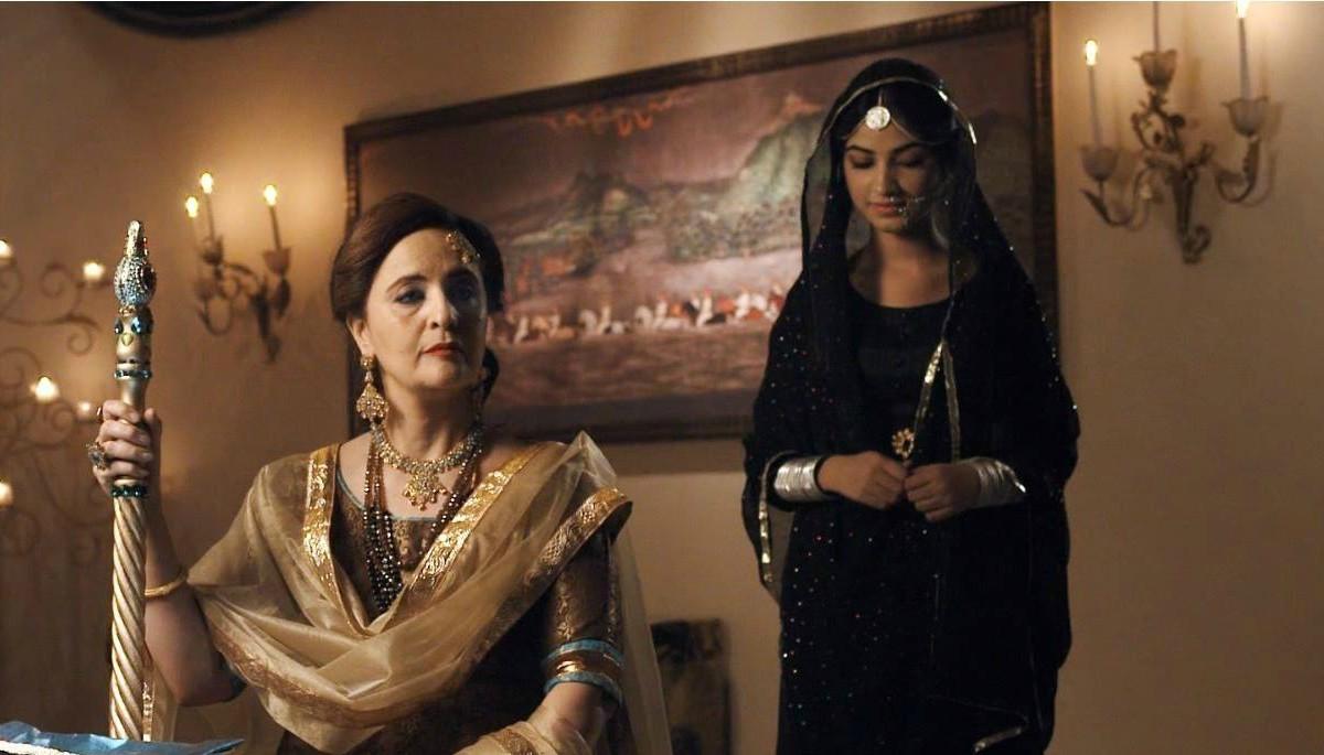 Hina Bayat as Badshah Begum, mother of the Nawab